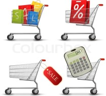 3648337-collection-of-shopping-carts-full-of-shopping-bags-and-a-sale-label-concept-of-discount-vector